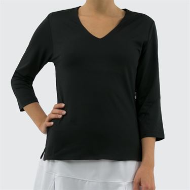 Bolle Masquerade 3/4 Sleeve Top - Black