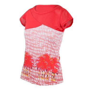 Bolle Positano Cap Sleeve Top - Coral