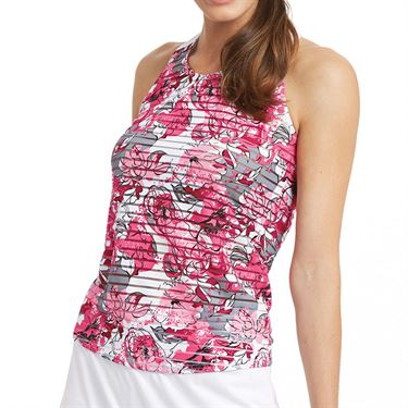 Bolle English Rose Crisscross Tank Womens Pink Passion Print 8784 29 0110