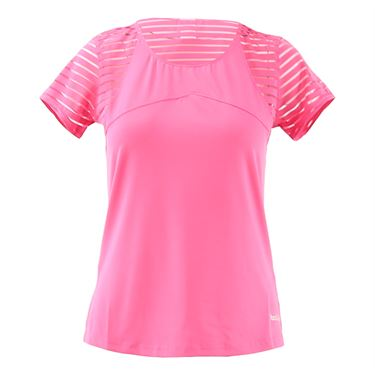 Bolle English Rose Cap Sleeve Top Womens Pink Passion 8787 29 7317