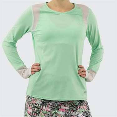 Bolle Tropical Oasis Long Sleeve Top Womens Mint 8795 29 9450