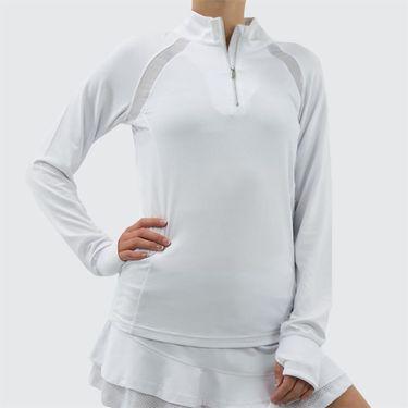 Bolle Club Whites 1/4 Zip Pullover - White