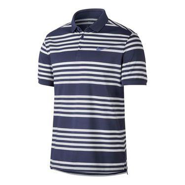 Nike Court Dry Stripe Polo - Blue Recall/White