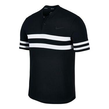 Nike Court Dry Advantage Stripe Polo - Black