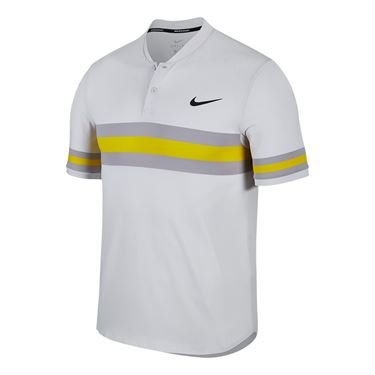 Nike Court Dry Advantage Stripe Polo - Vast Grey/Black