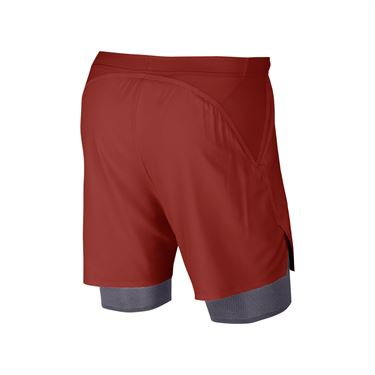 Nike Court Flex Ace Pro Short - Dune Red/Gridiron/White