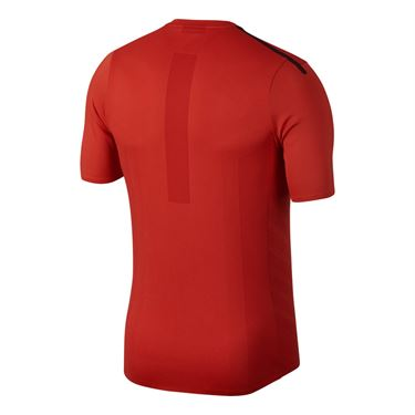 Nike Court Aeroreact Rafa Shirt - Habanero Red/Light Crimson/White