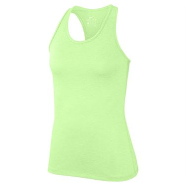 Nike Dry Training Tank Womens Barely Volt/Heather/White 889073 701