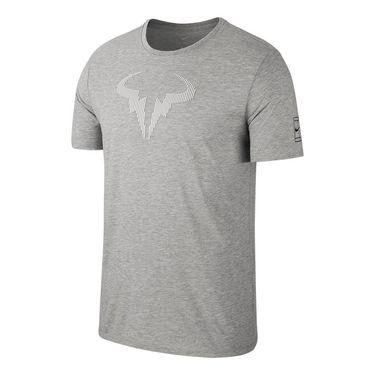 Nike Court Dry Rafa Tee - Grey Heather/Black