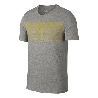 Nike RF Tee - Grey Heather/ Citron