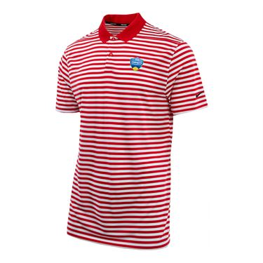 Nike Dry Western and Southern Golf Stripe Polo - Red/White