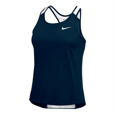 Nike Breathe Singlet Tank - Navy/White