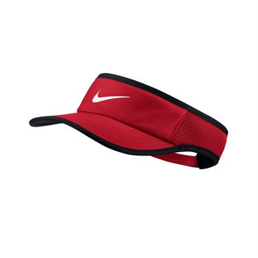 Nike Aerobill Feather Light ADJ Visor - University Red