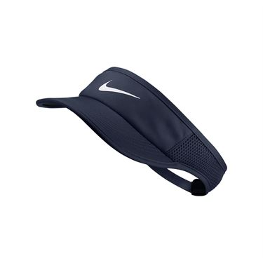 Nike Womens Aerobill Feather Light Visor - Obsidian