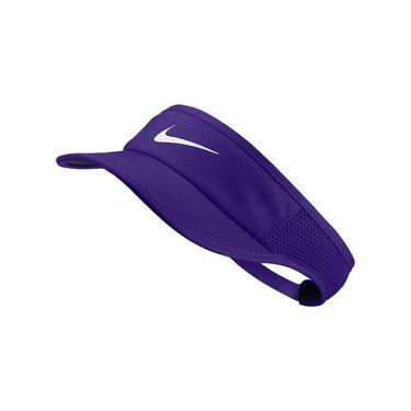 Nike Womens Court Aerobill Visor - Psychic Purple/White