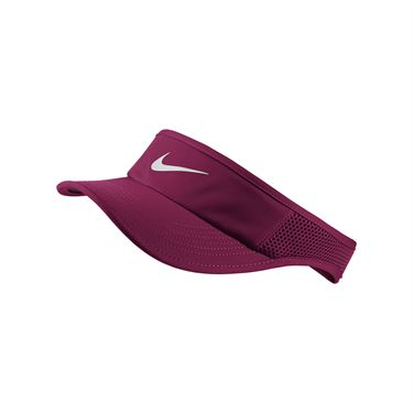 Nike Womens Court Aerobill Visor - True Berry/White
