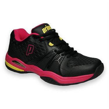 Prince Warrior Womens Tennis Shoe-Black/Pink