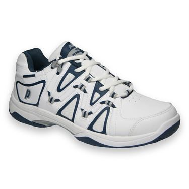 Prince Scream 4 Mens Tennis Shoe-White/Navy/Silver