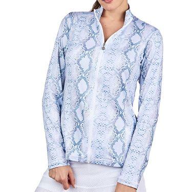 Sofibella UV Feather 1/2 Zipper Long Sleeve Top Womens Anaconda 9004F ANC
