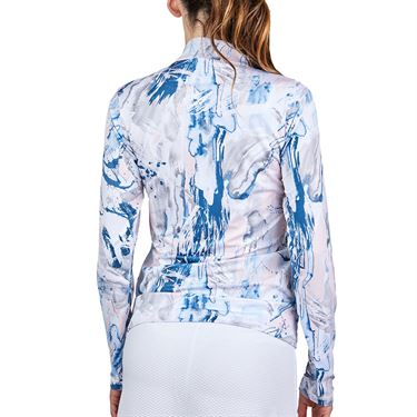 Sofibella UV Feather 1/2 Zipper Long Sleeve Top Womens Art Show 9004F ART