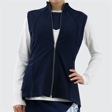 Sofibella UV Pleated Vest - Navy