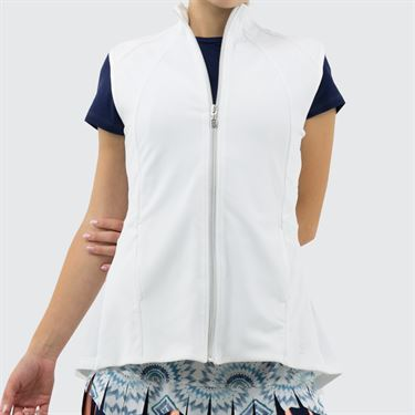 Sofibella UV Pleated Vest - White