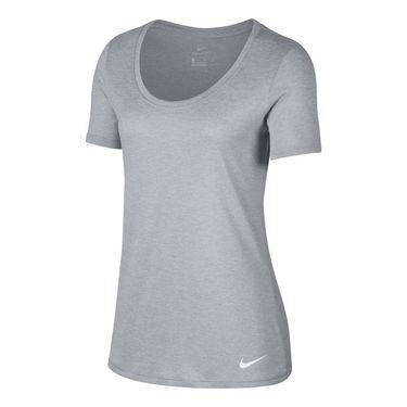 Nike Dry Training Tee - Wolf Grey/White