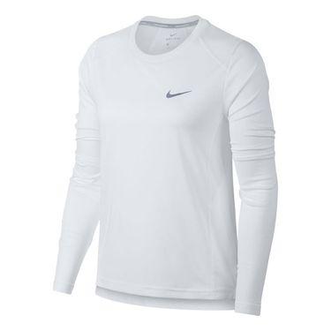 Nike Dry Miler Long Sleeve Top - White