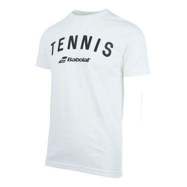 Babolat Tennis Logo Tee - White
