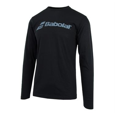 Babolat Long Sleeve Logo Tee - Black