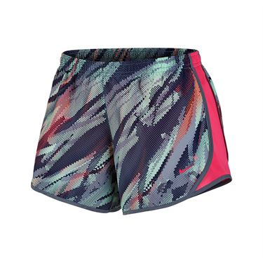 Nike Girls Dry Tempo Running Shorts - Dk Sky Blue/Racer Pink