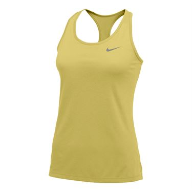 Nike Team Dry Balance Tank 2.0 Womens Gold/Cool Grey 915033 010