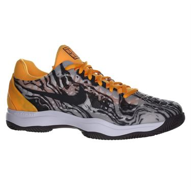 Nike Zoom Cage 3 Clay Mens Tennis Shoe - Pure Platinum/Thunder Grey/Laser Orange
