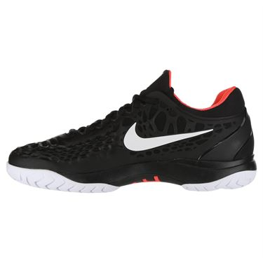 Nike Zoom Cage 3 Clay Mens Tennis Shoe - Black/White/Bright Crimson
