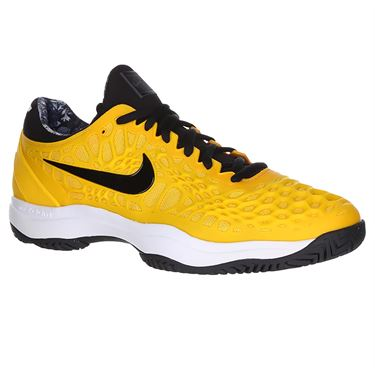 cdd303d0fc Nike Zoom Cage 3 Mens Clay Tennis Shoe - University Gold/Black/White/ ...