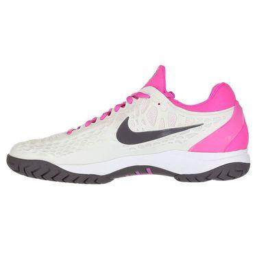 Nike Zoom Cage 3 Mens Tennis Shoe - Platinum Tint/Thunder Grey/Laser Fuchsia