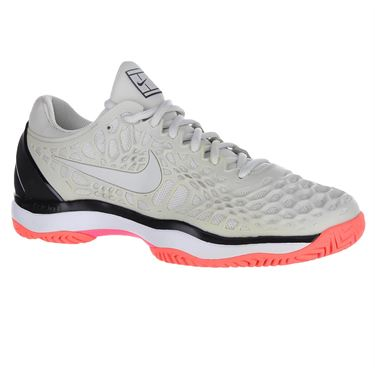 Nike Air Zoom Cage 3 Mens Tennis Shoe - Light Bone/Black/Hot Lava