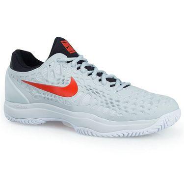Nike Zoom Cage 3 Mens Tennis Shoe - Pure Platinum/Habanero Red/Black/