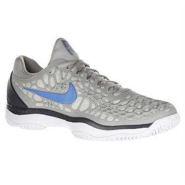 Nike Zoom Cage 3 Mens Tennis Shoe - Grey/Blue/Gridiron