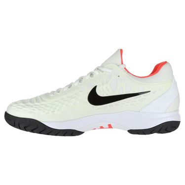 Nike Zoom Cage 3 Mens Tennis Shoe - White/Black/Bright Crimson