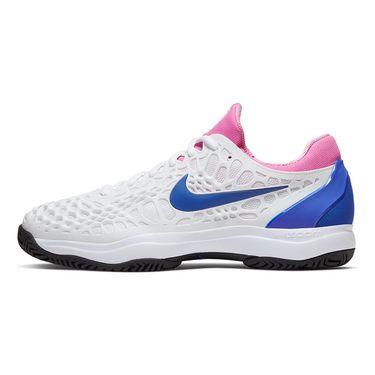 Nike Zoom Cage 3 Hard Court Mens Tennis Shoe White/Game Royal/China Rose/Black 918193 107