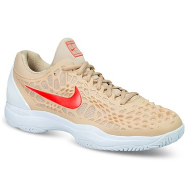 Nike Zoom Cage 3 Mens Tennis Shoe - Bio Beige/Bright Crimson/Phantom White