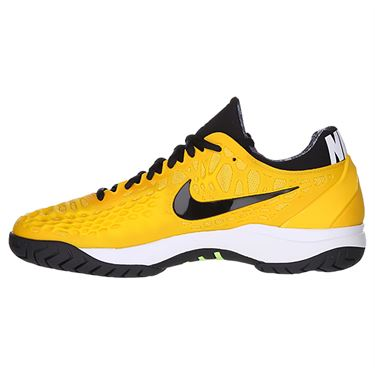 Nike Zoom Cage 3 Mens Tennis Shoe - University Gold/Black/White/Volt Glow