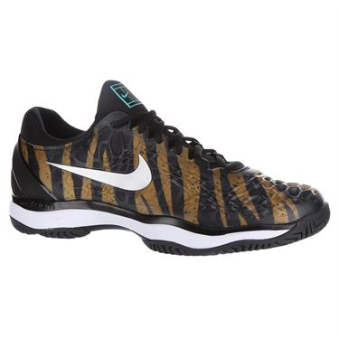 Nike Air Zoom Cage 3 Mens Tennis Shoe - Wheat/Metallic Silver/Hyper Jade