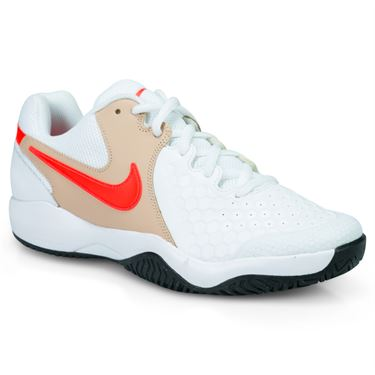 Nike Air Zoom Resistance Mens Tennis Shoe - White/Bright Crimson/Bio Beige/Black