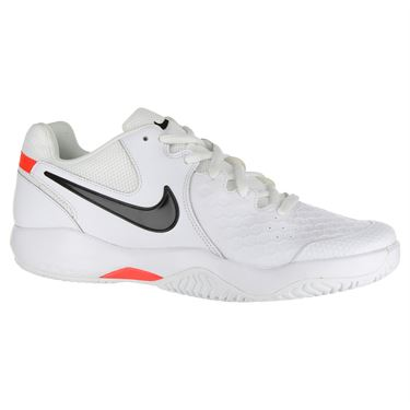 Nike Air Zoom Resistance Mens Tennis Shoe - White/Black/Bright Crimson