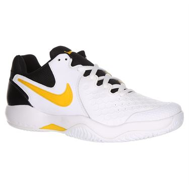 Nike Air Zoom Resistance Mens Tennis Shoe - White/Black/ University Gold