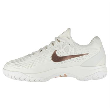 Nike Zoom Cage 3 Clay Womens Tennis Shoe - Phantom/Metallic Rose Gold