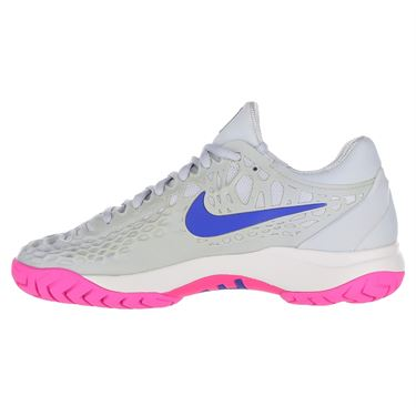 Nike Zoom Cage 3 Womens Tennis Shoe - Pure Platinum/Racer Blue/Metallic Platinum