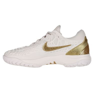 Nike Zoom Cage 3 Womens Tennis Shoe Phantom/Metallic Gold 918199 007